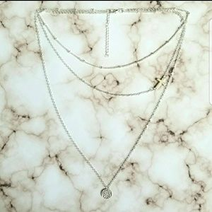 5 for $25 Three Layer Cross Necklace
